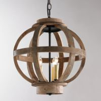 Mini Wood Globe Lantern | Rustic wood, Foyers and Hallways