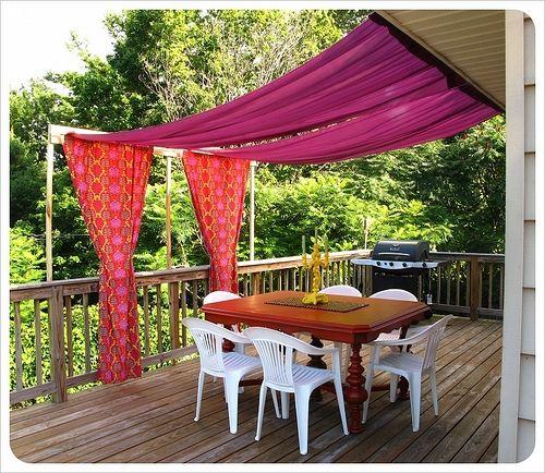 DIY outdoor patio canopy