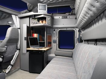 I want to design the inside of a semi truck cab someday This will help me to know how the