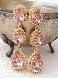 25+ best ideas about Bridal chandelier earrings on ...