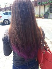 pravana purple dip dye brown