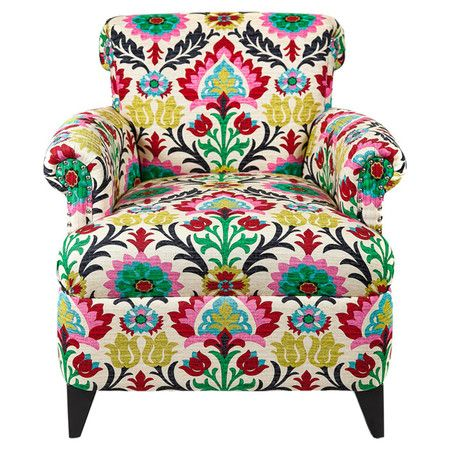 Yasmin Arm Chair in Desert Floral art architecture