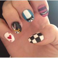 Alice in wonderland nail design | Disney nail art | Pinterest