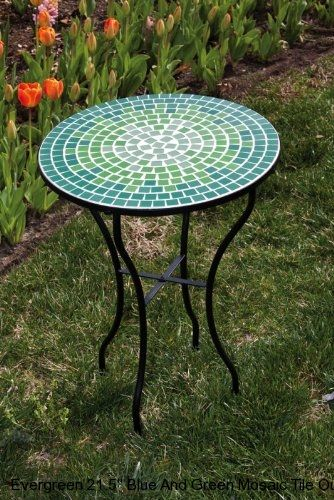 find this pin and more on mosaic tables blue and green tile mosaic outdoor