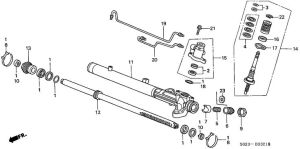 Rack and Pinion Rebuild Diagram | Literally, lay #21 down against the rack so that it doubles