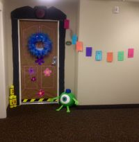 Monsters Inc. door decoration for Halloween | Monsters ...