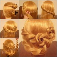 Braided Rose Hairstyle Double rose hairstyle