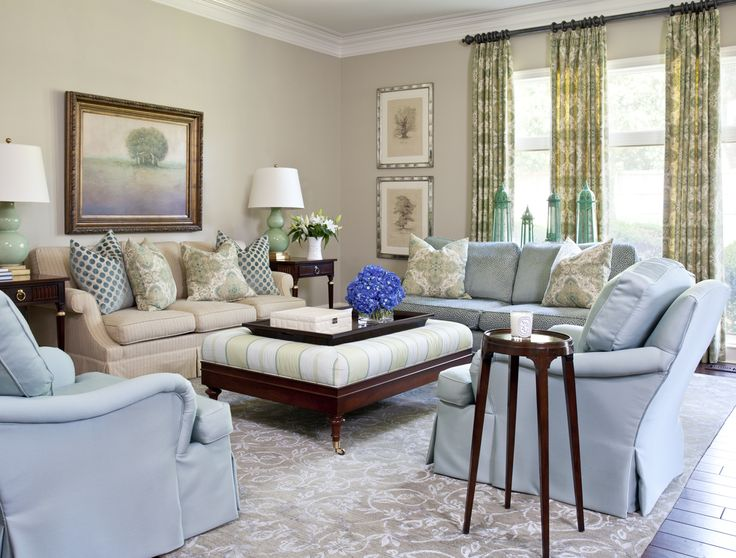 living room paint ideas blue couch cheap design walls sherwin-williams' relaxed khaki 6149; trim is ...
