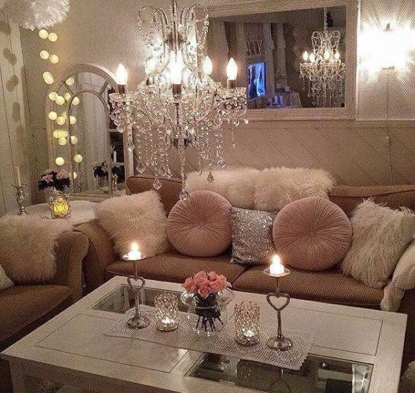 pink glam living room decor Follow br0nzed-beauty for more luxury IG sharonemel | Interior Design & Dream Home Ideas
