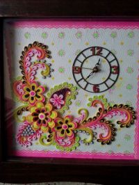 50 best images about Paper Quilling Wall Clocks on Pinterest