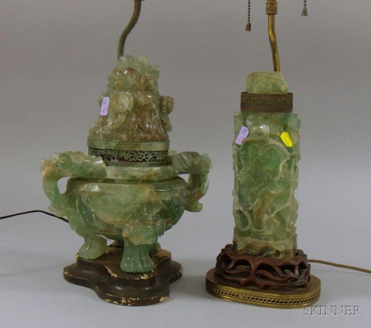 9 best Antique carved jade lamp images on Pinterest