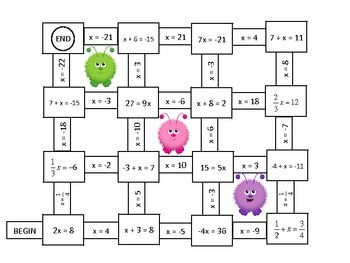 Two step equations, Equation and Algebra on Pinterest