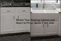 Resize Your Existing Cabinet and Doors to Fit an Apron ...