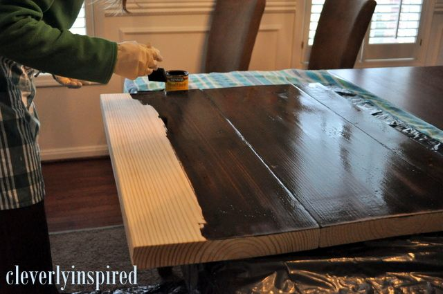 10 DIY Wood Countertop  Cleverly Inspired We did this for our bathroom Im pretty sure it