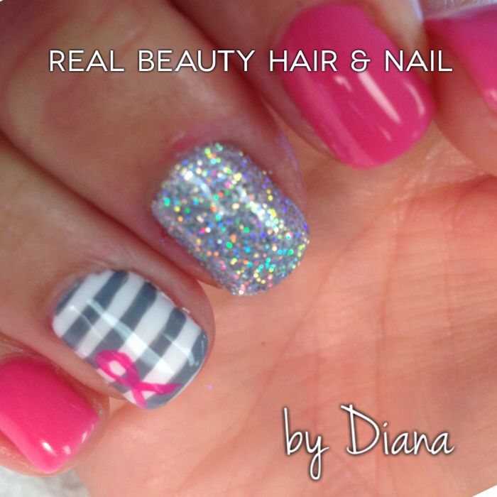 1000+ ideas about Breast Cancer Nails on Pinterest
