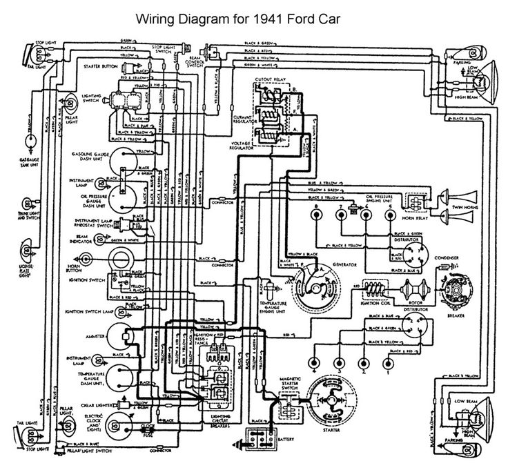 auto wiring diagram 1953 chevy pickup