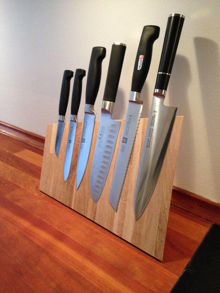 kitchen knife magnet framed art magnetic block | for the home pinterest ...