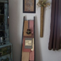 Rustic Decorating Ideas For Living Room Do It Yourself Wall Art 17 Best Images About Prim Ladders On Pinterest | Ladder ...