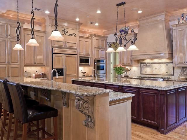 cream colored kitchen cabinets scales a salad sink (with disposer) in large island makes big ...
