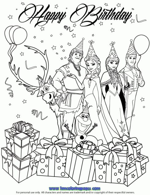 24 best images about Disney Frozen Birthday Coloring Pages
