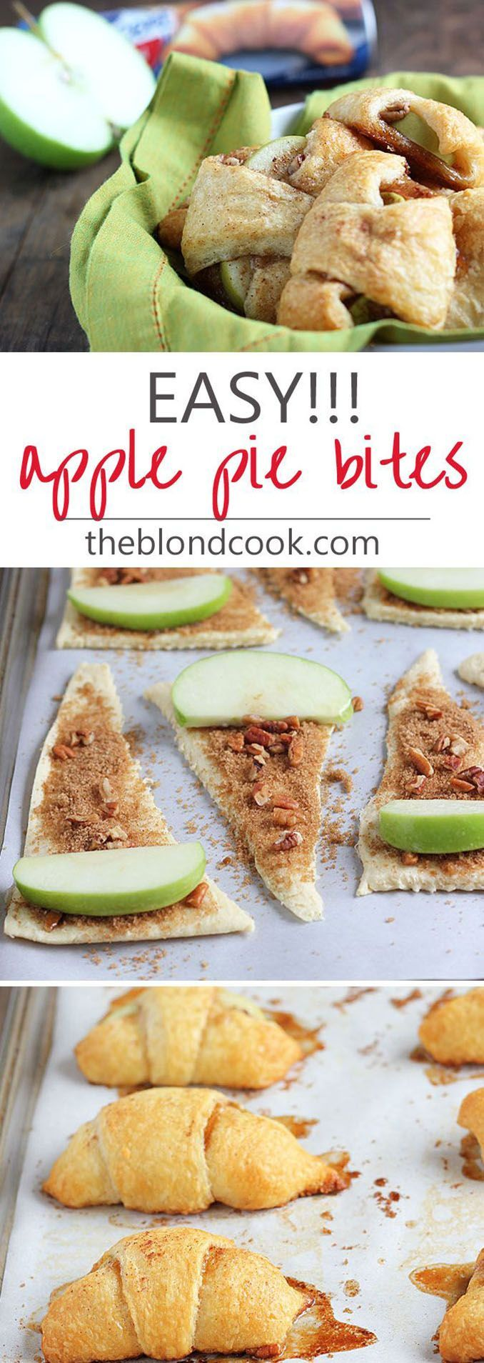 EASY Apple Pie Bites made with crescent rolls… these taste better than apple pie!!