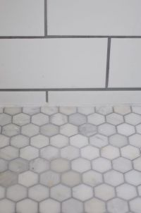 White Marble Hexagon Tile with Grout, carrera marble ...