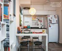small kitchen in a studio apartment