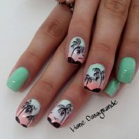 40 Palm Tree Nail Art Ideas   Palm tree nail art, Palm ...
