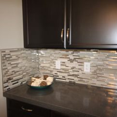 Do It Yourself Kitchen Countertops Ideas For Glass Loft - Titanium Clay Mix Mosaic Aceent Tile The ...