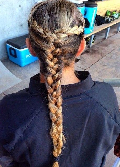 Softball Hairdo Ideas Softball Hairstyles Pinterest