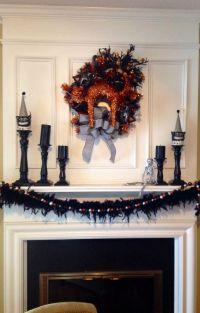 Halloween decorations, indoor, mantle