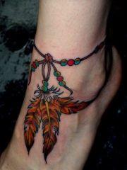tribal foot tattoos ideas