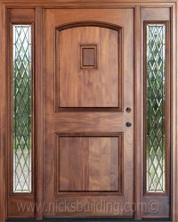 chestnut stain color on a mahogany entrance door - bought ...