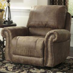 Ashley Furniture Leather Sofa Recliners Animal Print Dfs Larkinhurst - Earth Roll Arm Rocker Recliner W/ Nailhead ...