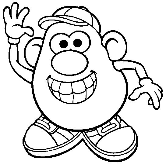mr. potato head coloring page for introduction to the