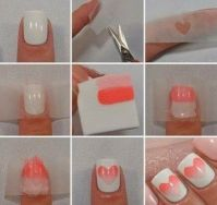 How to do ombre nail art at home step by step. DIY ombre ...