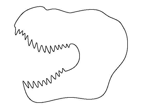 T-Rex head pattern. Use the printable outline for crafts