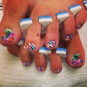 cute toes nails design nail