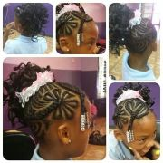 flower and heart design cornrows