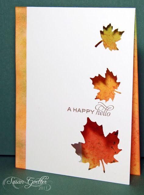 17 Best Images About ThanksgivingAutumnFall CardsStamps