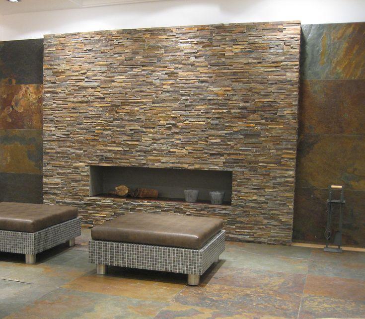 Wand aus Naturstein Bricks rotbraun  Fliesen in Steinoptik  Pinterest  Bricks and Wands