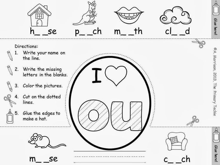 The Primary Techie: Fun with OU and OW, Ideas for learning