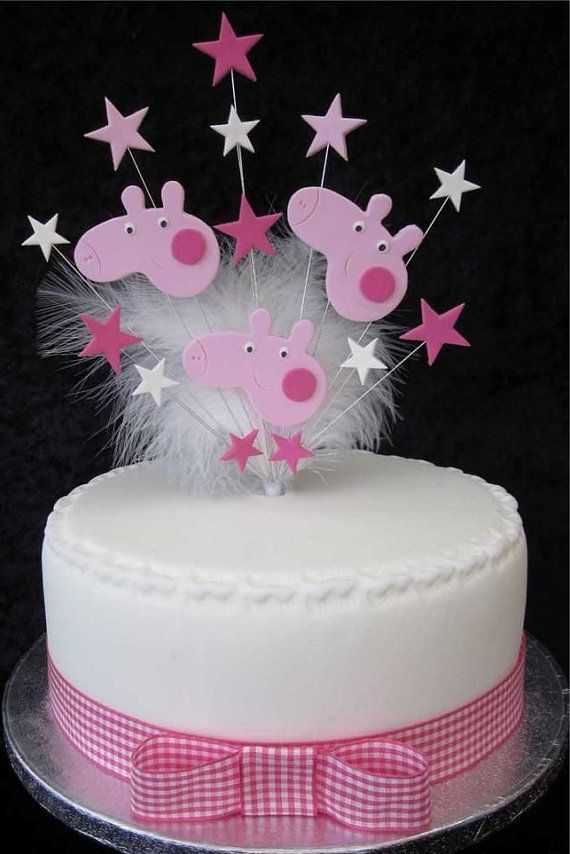 Peppa Pig Cake Topper  Peppa Pig Birthday  Pinterest