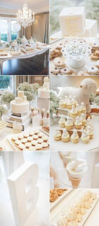 All white baby shower.: White Book, White Flower, White ...