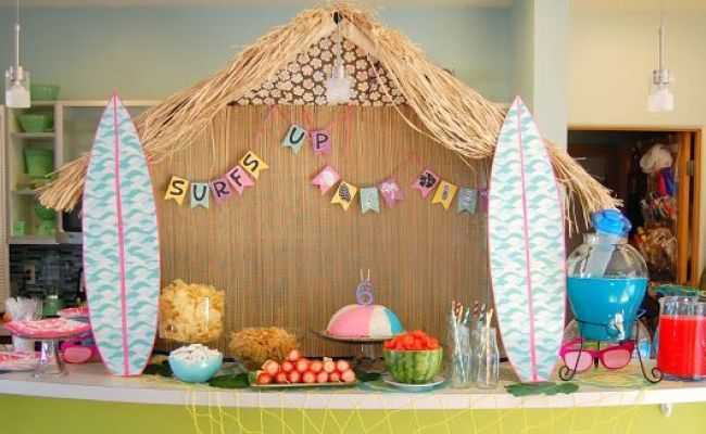 Make A Tiki Hut To Serve As Big Mamma S For The Food Table