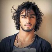 messy-curly-hairstyles-men hair