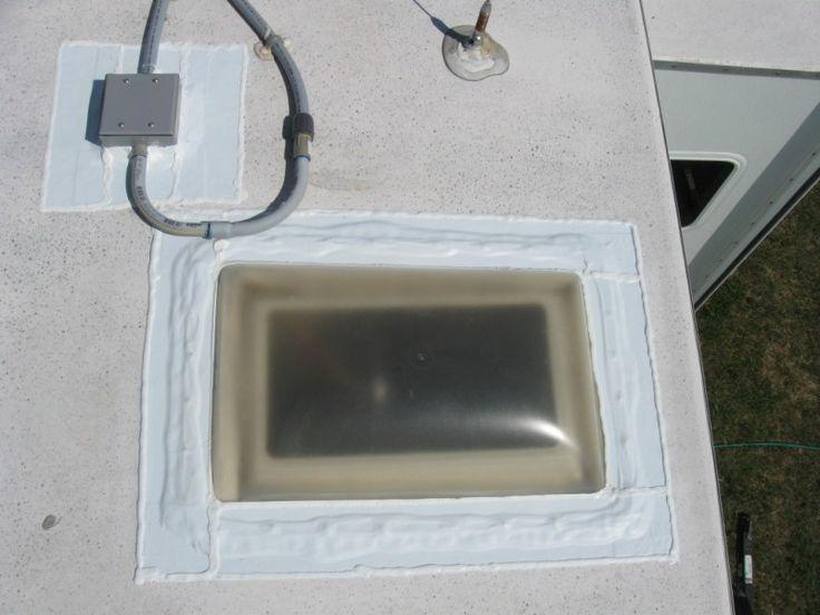 Nice RV rubber roof seal job using tape and Dicor Lap Sealant  httprvhappyhourcom  RV