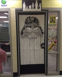 Classroom door decor. Star Wars pop culture. Welcome to ...