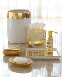 White And Gold Bathroom Accessories