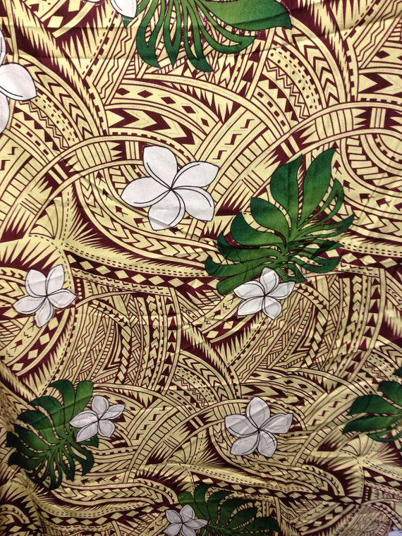 Beautiful Native Samoan Fabric  Fabrics Beautiful and Etsy